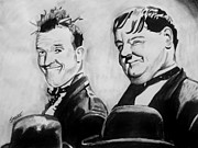 Hardy Pastels - Laurel And Hardy by Jeremy Moore