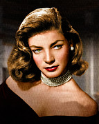 Motion Picture Star Prints - Lauren Bacall Print by Allen Glass