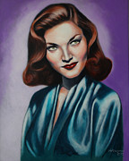 Lauren Bacall Framed Prints - Lauren Bacall Framed Print by William Goodman