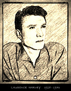 Award Drawings Prints - Laurence Harvey Print by George Rossidis