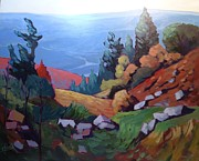 Laurentians Paintings - Laurentian Mountains by Edward Abela
