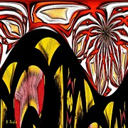 Fire Images Digital Art - Lava Flow by Alec Drake