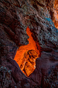Desert Metal Prints - Lava Glow Metal Print by Chad Dutson