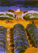 Lavander Paintings - Lavander Fields 2003 by Averil Elaziz