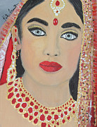 Indian Wedding Paintings - Lavani - Indian Bride Series by Kate Farrant