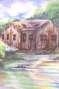 Shack Drawings - Laveen Shack by Lucia Parga-Navarro