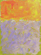 Custom  Studio Paintings - Lavender Field Sunset by Paulette Wright