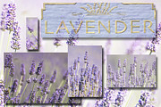 Mixed Media Nature Framed Prints - Lavender Fields Collage Framed Print by Anahi DeCanio