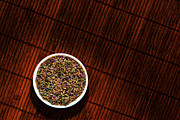 Aromatherapy Photos - Lavender Flower Seeds in Dish by Olivier Le Queinec