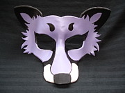 Fox Sculptures - Lavender Fox by Fibi  Bell
