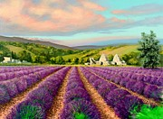 Fragrant Painting Framed Prints - Lavender II Framed Print by Michael Swanson