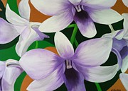 Lisa Bentley Art - Lavender Orchid Painting by Lisa Bentley