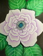 Lavender Drawings - Lavender Rose Secrets by Janet Hinshaw