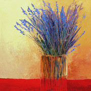 Oil  Etc. Paintings - Lavender by Sheila Psaledas