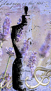 Dress Mixed Media Metal Prints - Lavender Vintage Fashion Mannequin Metal Print by Adspice Studios