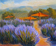 Winery Paintings - Lavender Winery by Carolyn Jarvis