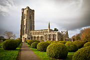 Gothic Graveyard Prints - Lavenham church Print by Tom Gowanlock