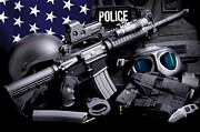 Police Art - Law Enforcement Tactical Police by Gary Yost
