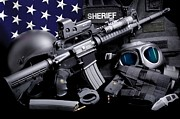 Law Enforcement Photos - Law Enforcement Tactical Sheriff by Gary Yost