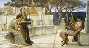 Famous Artists - Sappho and Alcaeus by Lawrence Alma-Tadema