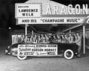 Los Angeles Photo Posters - Lawrence Welk In His Hudson Poster by Underwood Archives
