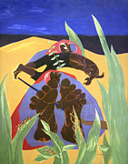 Jacob Lawrence Prints - Lawrences Daybreak -- A Time To Rest Print by Cora Wandel