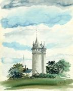 Water Tower Paintings - Lawson Tower Scituate MA by Paul Gaj