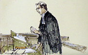 Lawyer Drawings - Lawyer 10 by Armand Roy
