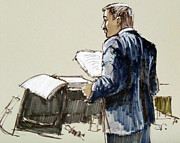 Lawyer Drawings - Lawyer 12 by Armand Roy