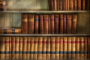 Shelves Photo Prints - Lawyer - Books - Law books  Print by Mike Savad