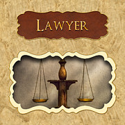 Lawyer Metal Prints - Lawyer button Metal Print by Mike Savad