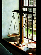 Susan Savad Prints - Lawyer - Scales of Justice Print by Susan Savad
