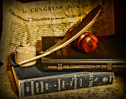 Supreme Court Framed Prints - Lawyer - The Constitutional Lawyer Framed Print by Paul Ward