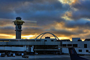 Lax Framed Prints - LAX Airport Framed Print by Chuck Kuhn