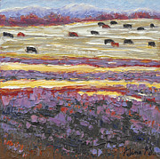 Impressionistic Landscape Paintings - Layers of Lavender by Gina Grundemann
