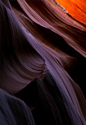 Antelope Canyon Photo Acrylic Prints - Layers of the Desert Acrylic Print by Mike  Dawson
