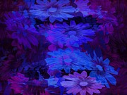 Purple Glass Art - Layers by Tatiacha  Bhodsvatan