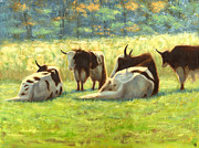 Yak Painting Posters - Lazy Afternoon Poster by Bibi Snelderwaard Brion