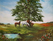Jockey Paintings - Lazy Days in Summer by Jean Walker
