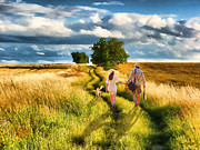 Country Lanes Prints - Lazy Summer Afternoon Print by Tom Schmidt