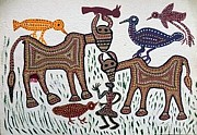 Indian Tribal Art Paintings - Lb 194 by Ladoo Bai
