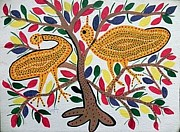 Indian Tribal Art Paintings - Lb 201 by Ladoo Bai