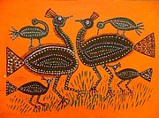 Indian Tribal Art Paintings - Lb 202 by Ladoo Bai