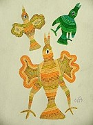 Indian Tribal Art Paintings - Lb 207 by Ladoo Bai