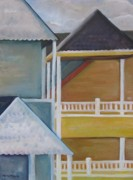 Long Street Paintings - LBI Rooftops by Maria Milazzo