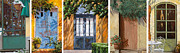 Composition Painting Posters - Le 5 Porte Poster by Guido Borelli