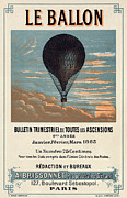 Flights Framed Prints - Le Ballon advertising for French aeronautical journal Framed Print by Nomad Art And  Design