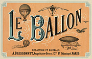 Vintage Paris Posters - Le Ballon Poster by Nomad Art And  Design