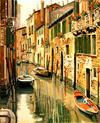 Venice Framed Prints - Le Barche A Colori Framed Print by Guido Borelli