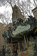 Bryant Park Framed Prints - Le Carrousel Framed Print by Alida Thorpe
